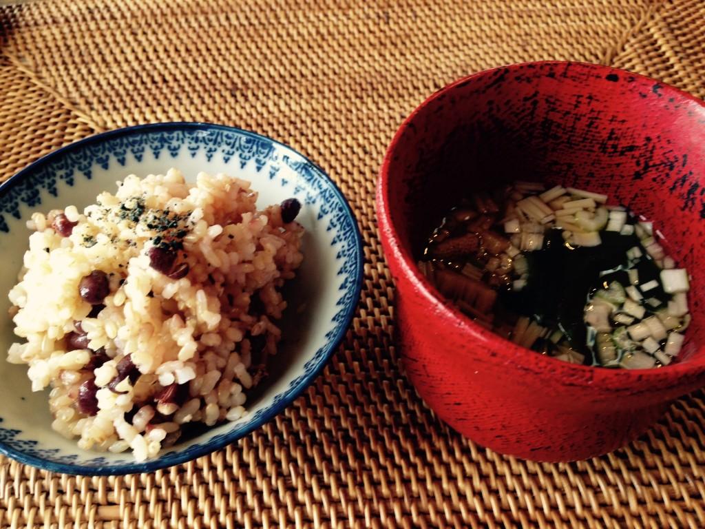 栃木 那須高原 アワーズダイニング oursdining レストラン 料理 ランチ 那須のめぐみランチコース 玄米 味噌汁