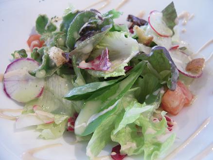 栃木 大田原 クローバーボヌール レストラン 料理 サラダ