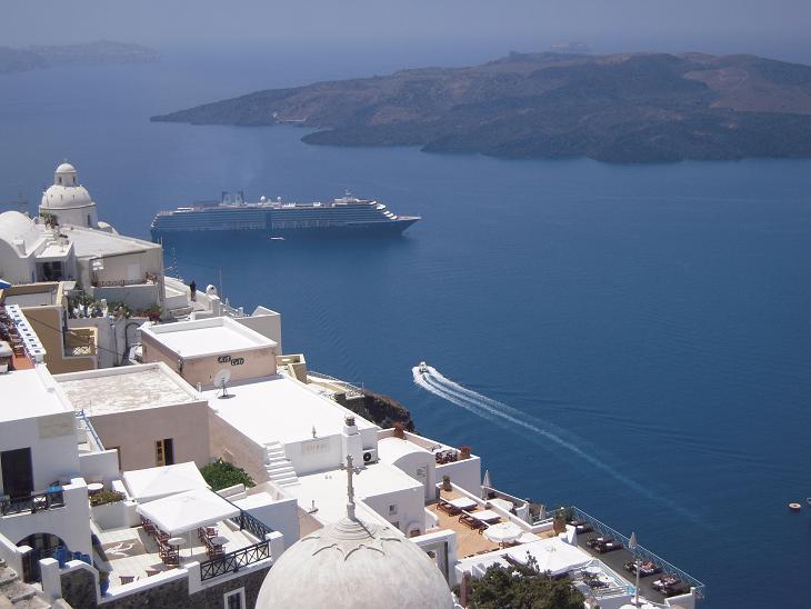 ギリシャ サントリーニ島 地中海 エーゲ海