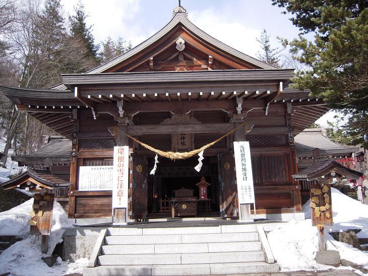 栃木 那須湯本 温泉神社 境内