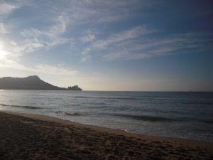 ハワイの海 ダイアモンドヘッド