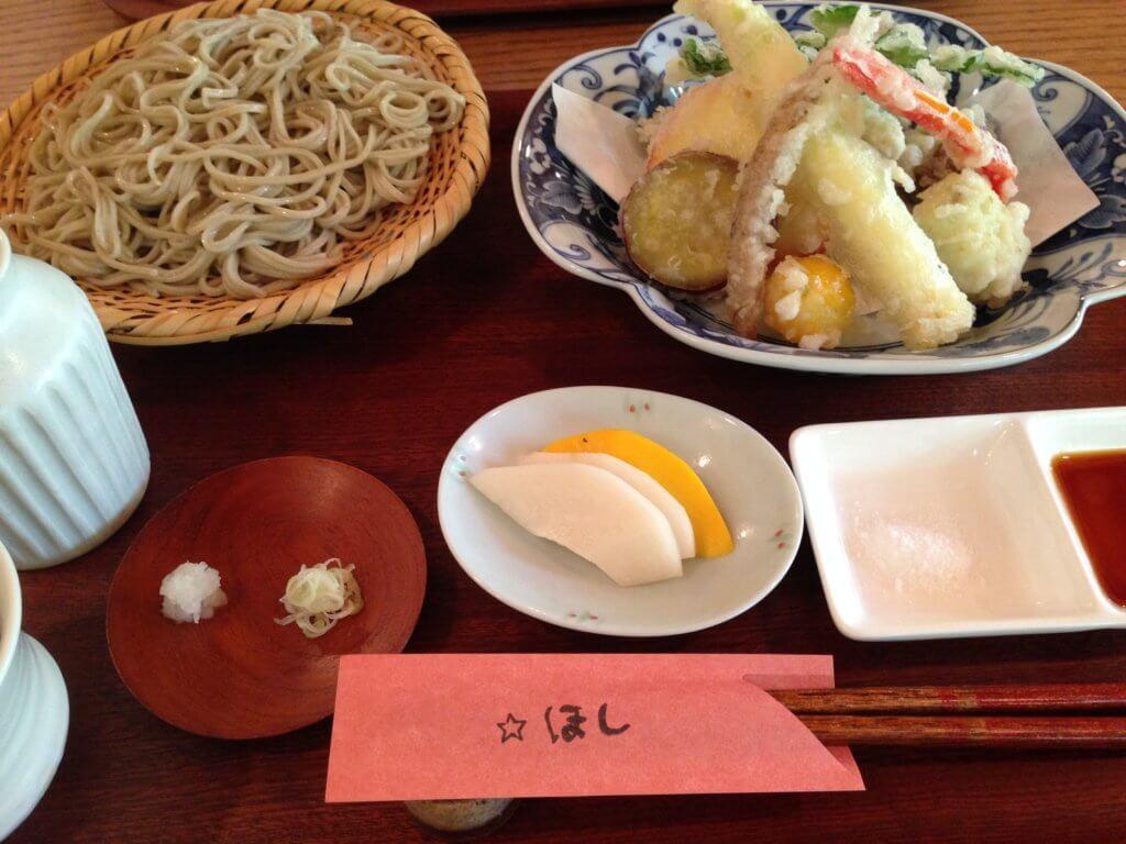 栃木 那須 蕎麦 そば 山里料理 ほし 料理 天ぷら てんぷら