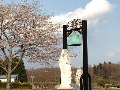 栃木 那須高原 オルゴール美術館 鐘 桜