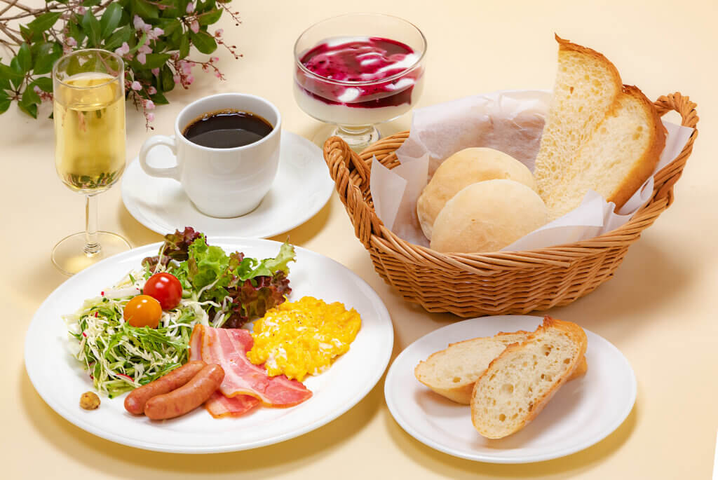 栃木那須高原ペンショントント朝食一例