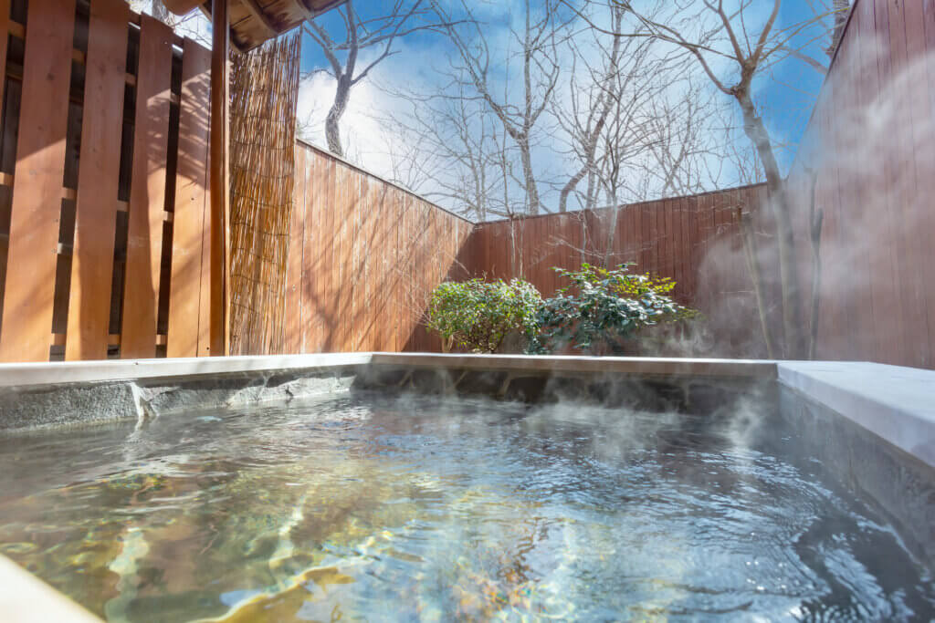 栃木那須高原ペンショントント露天風呂